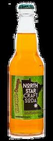 North Star Pineapple Orange Craft Soda in 12 oz glass bottles for Sale at SummitCitySoda.com
