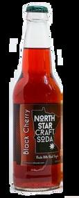 North Star Craft Soda Black Cherry in 12 oz glass bottles for Sale at SummitCitySoda.com