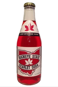 Buckeye State Scarlet Soda - 12 pack of 12 oz glass bottles at SummitCitySoda.com