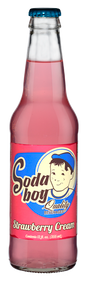 Soda Boy Strawberry Cream Soda in 12 oz. glass bottles for Sale