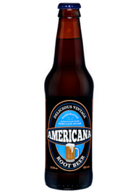 Americana Root Beer in 12 oz. glass bottles for Sale