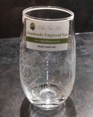 Medium Daisy Engraved Vase