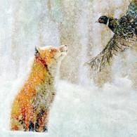 Fox and Pheasant Card