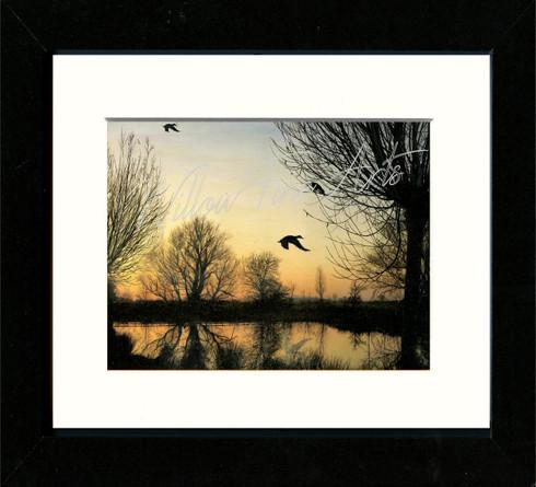Black Framed Print 10x8inch
