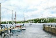 Ambleside Marina - Large Collector's Print
