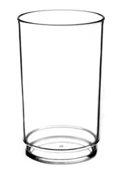 The High Ball Tumbler looks and feels like glass in a design that is shatter resistant, portable, stackable and reusable.