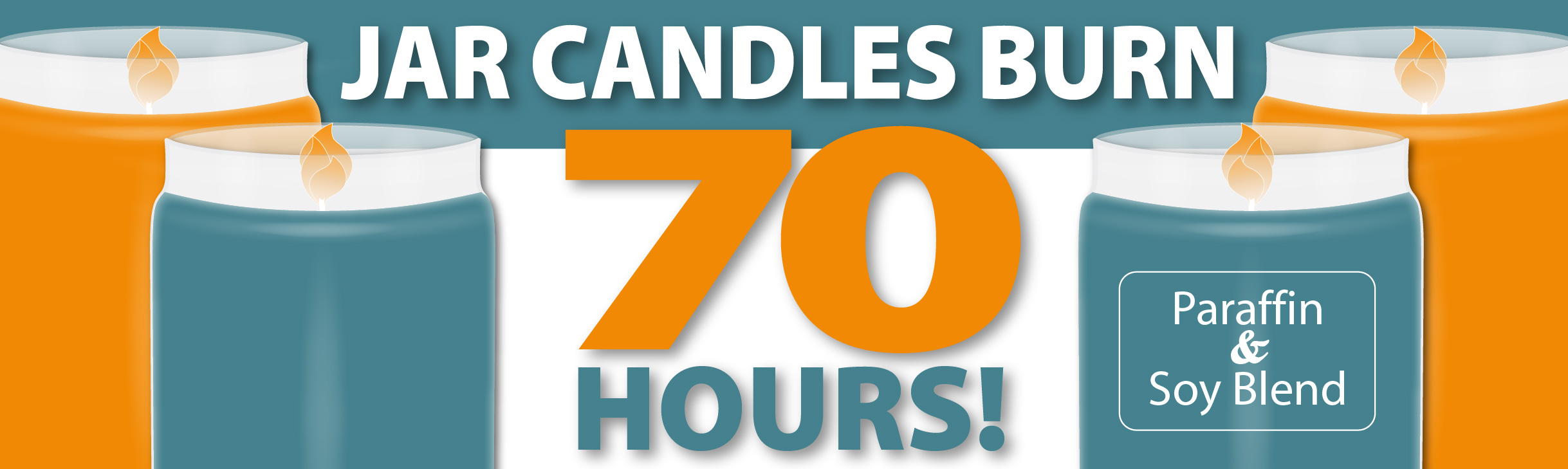 Jar Candles Burn 70 Hours