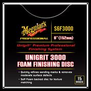 Mirror Glaze¨ Unigrit¨ Premium Professional Finishing Discs, 3,000 Grit