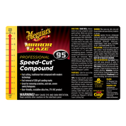 M95 Mirror Glaze¨ Speed Cutª Compound, Secondary Label