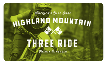 2019 Three Ride Card