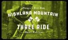 2019 Three Ride Card