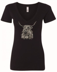 Highland Cow Tee - Womens