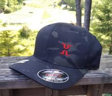 Minimalist Flexfit Hat - Black Camo