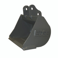 """18"""" (3.19 ft³, .09 m³) NO TEETH Smooth Heavy Duty Bucket for John Deere JD35D Excavator with OEM Quick Attach"""