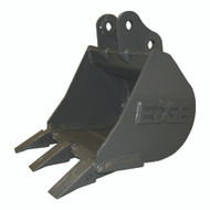 "24"" (4.25 ft³, .12 m³) Heavy Duty Bucket for Hitachi ZX27, ZX35 Excavator with OEM Quick Attach"