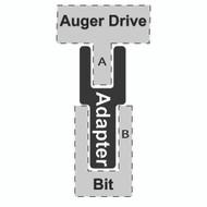 "Adapter - 2-1/2"" Hex to 2"" Hex Bit - CE"