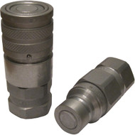 High Flow Male and Female Flat Face Coupler Kit, #12 Female O-Ring Boss (i.e. Gehl V420, RT175, RT210, RT250, VT320)