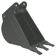 "12"" (300 mm) In-Cab Backhoe Bucket with 3 pin-on teeth"