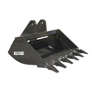 """36"""" (3.48 ft³, .099 m³) Cemetery Bucket for John Deere 27D, 35D Excavator with OEM Quick Attach"""