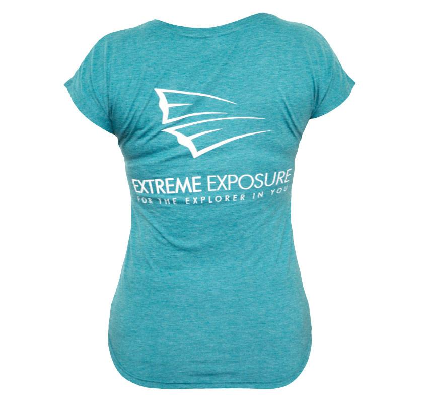 Ladies Teal Ee T Shirt New Logo Extreme Exposure