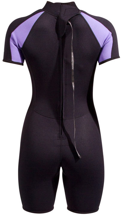 NeoSport Women s Premium Neoprene Shorty. Black. Tap to expand · Black   Purple  Back Zip on the Purple 5c3af590c