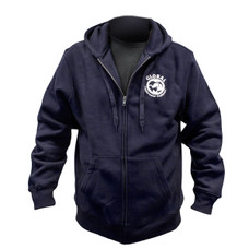 GUE Heavyweight Navy Zip-Up Hoodie