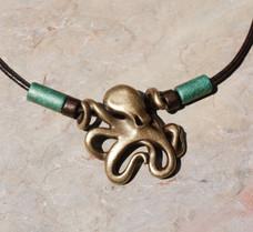 """Leggs"" Octopus Necklace - Antique Brass"