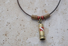 Scuba Tank Necklace - Antique Brass