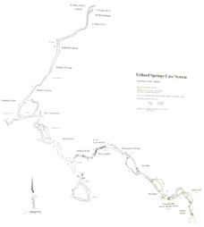 Telford Springs Cave System Map