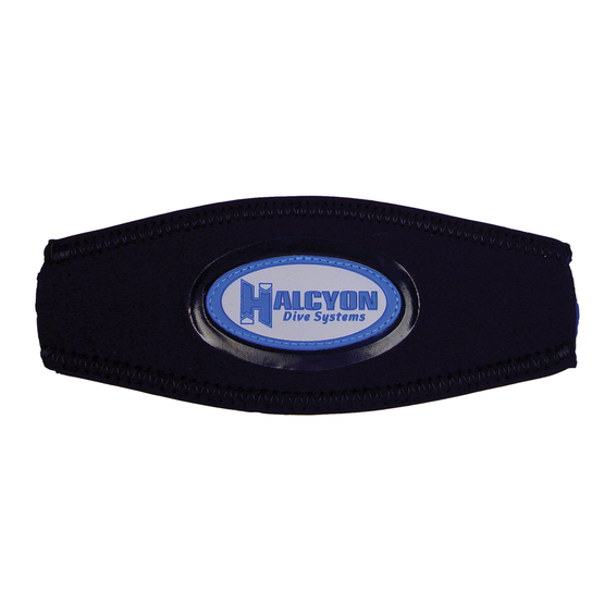 Halcyon Logo Mask Strap Cover in Blue