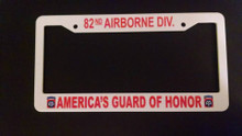 82ND AIRBORNE DIVISION License Plate Frame