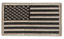American Flag Patch (Black/Khaki)