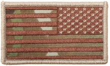 American Flag Patch (Multicam)(Reverse)