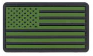 PVC US Flag Patch (Black/OD)