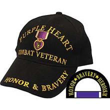 "Purple Heart ""Honor & Bravery"" Baseball Cap"