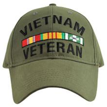 Vietnam Veteran OD Baseball Cap