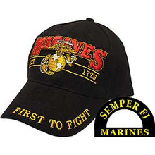 "U.S. MARINE CORPS ""FIRST TO FIGHT"" Baseball Cap"
