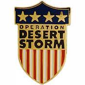 Desert Storm pin