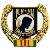 POW*MIA Wreath pin