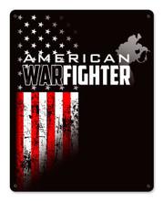 American Warfighter Metal Wall Sign (12X15)