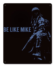 Be Like Mike Metal Wall Sign (12X15)