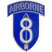 U.S. Army 8th Infantry Division Airborne pin