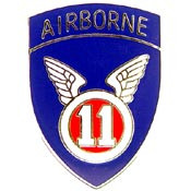 U.S. Army 11th Airborne Division pin
