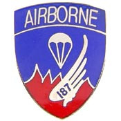 U.S. Army 187th Airborne pin