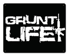 Gruntlife Stacked Metal Wall Sign (15X12)
