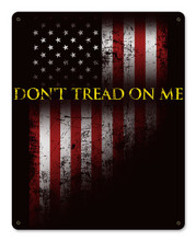 Don't Tread On Me Metal Wall Sign (12X15)