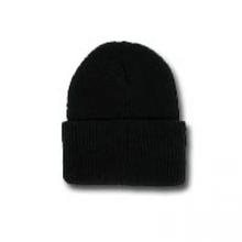 Black Wool Watch Cap