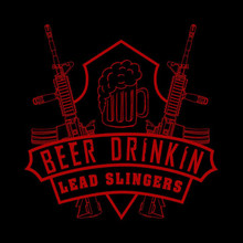 Beer Drinkin Lead Slingers Logo (ART 15)