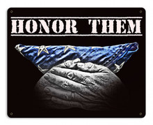 Honor Them Metal Wall Sign (15X12)