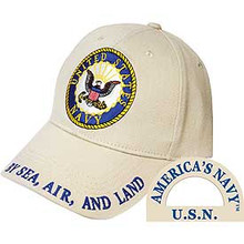 U.S. Navy Logo Khaki Baseball Cap